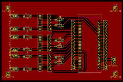 PCB layout of the logic unit.