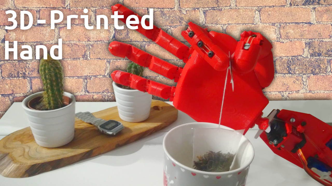 3D-printed prosthetic hand