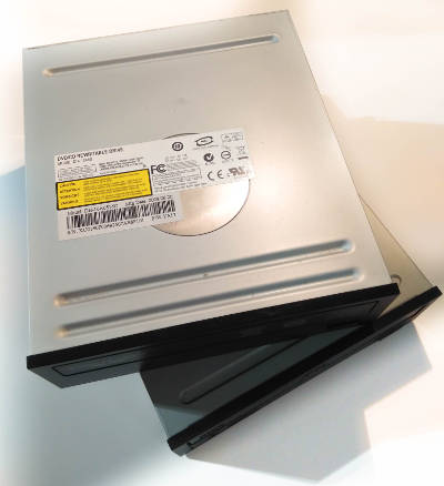 DVD drives used for the laser machine.