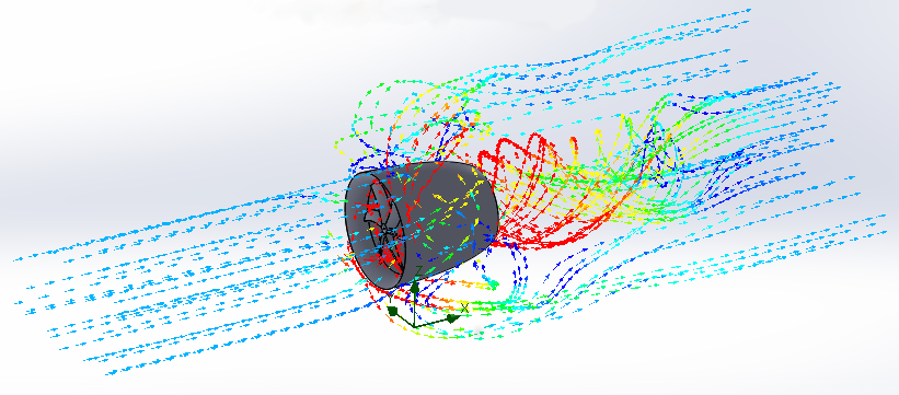 Air flow simulation in the EDF